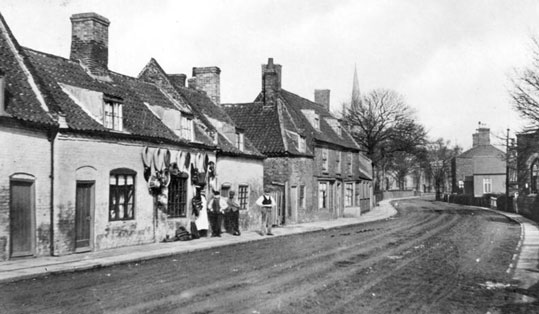 An old picture of the village in Lincolnshire where I was born